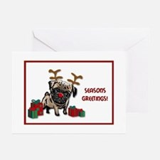 Pug Christmas Greeting Cards