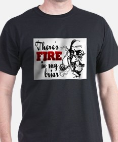 Fire in My Briar Grey T-Shirt