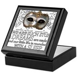 Theatre plays Square Keepsake Boxes