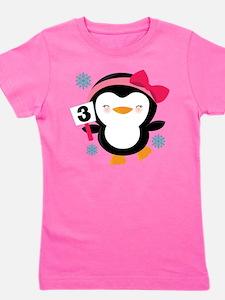3rd Birthday Penguin T-Shirt