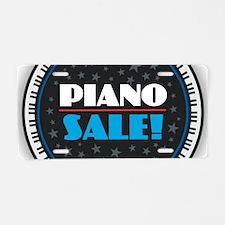 Funny Music piano Aluminum License Plate
