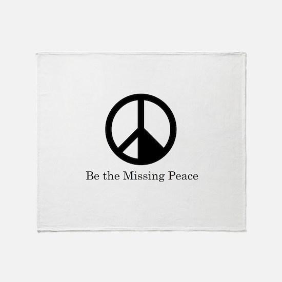 Missing Peaces Throw Blanket