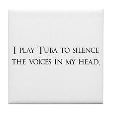 I Play Tuba To Silence The Vo Tile Coaster