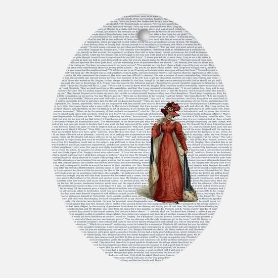 Pride and Prejudice Oval Ornament