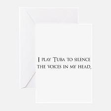 I Play Tuba To Silence The Vo Greeting Cards (Pk o