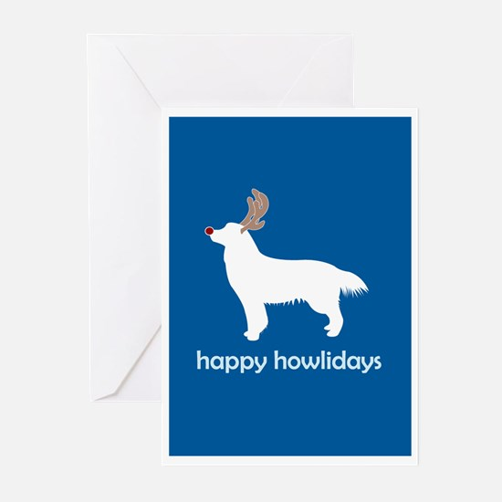 "Golden ""Happy Howlidays"" Greeting Cards (Package o"