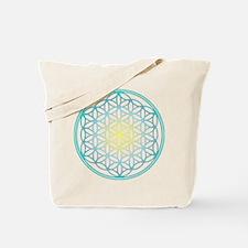 Flower of Life - Aqua Tote Bag