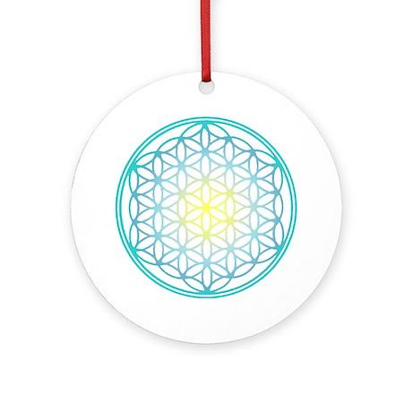 Flower of Life - Aqua Ornament (Round)