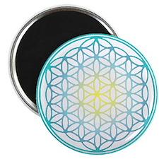 Flower of Life - Aqua Magnet