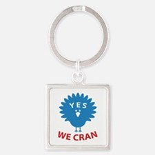 Yes We Cran Square Keychain