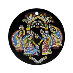 Gopinis Playing With Krishna Ornament (Round)