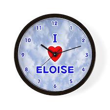 I Love Eloise (Blue) Valentine Wall Clock
