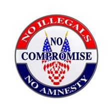 "No Amnesty 3.5"" Button"