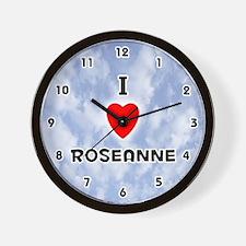 I Love Roseanne (Black) Valentine Wall Clock