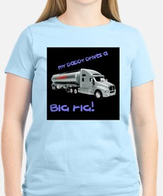 Trucking Dad Black T-Shirt