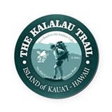 Kalalau trail Round Cork Coasters