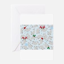 christmas Manatee Greeting Cards