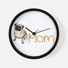 Pugs not drugs Wall Clock