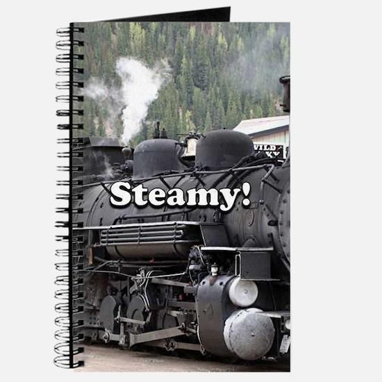Steamy!: steam train engine, Colorado, USA Journal