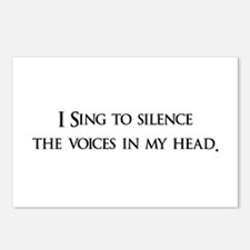 I Sing To Silence The Voices Postcards (Package o