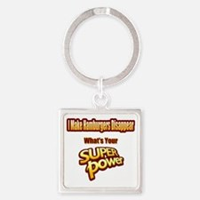 Cute Bacon lovers Square Keychain