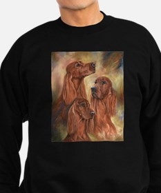 Three Irish Setters by Dawn Secord Sweatshirt