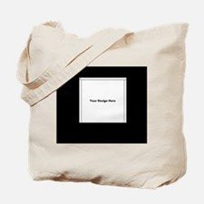 Your Logo Here over Black Background Tote Bag