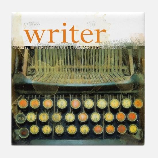 typewriterwriter.png Tile Coaster