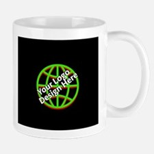 Your Logo over a Black Background Mugs