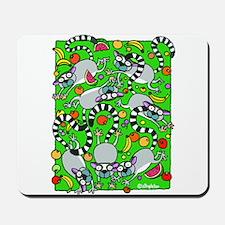 LEMURS AND FRUIT Mousepad