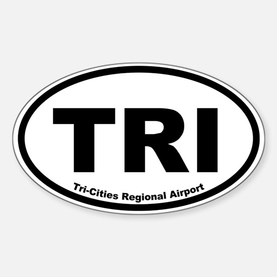 Tri-Cities Regional Airport Oval Decal