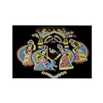 Gopinis Playing With Krishna Magnets (10 pack)