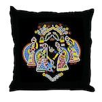 Gopinis Playing With Krishna Throw Pillow