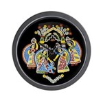 Gopinis Playing With Krishna Wall Clock
