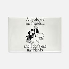 Animals are my friends Rectangle Magnet