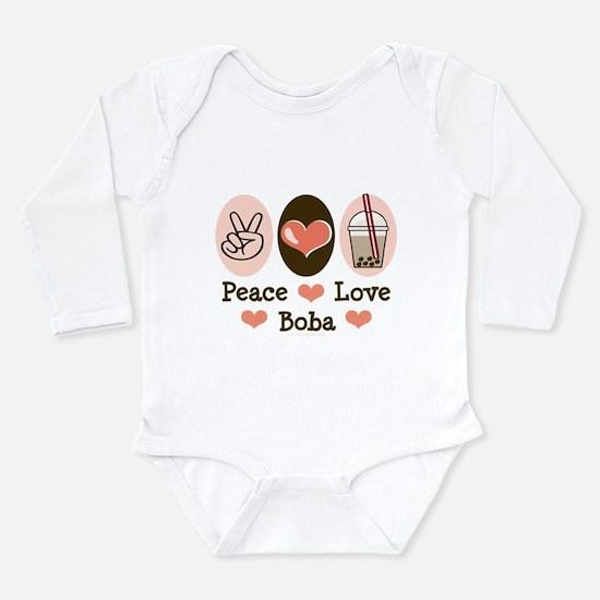 Peace Love Boba Bubble Tea Body Suit