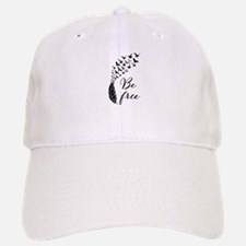 Be free, feather with flying birds Baseball Baseball Baseball Cap