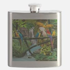 Parrots of the Hidden Jungle Flask