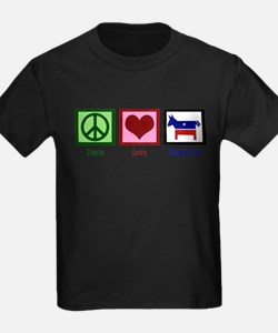 Peace Love Democra T-Shirt