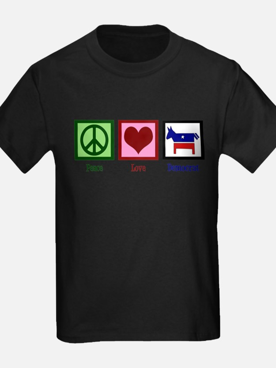 Peace Love Democra T-Shirt