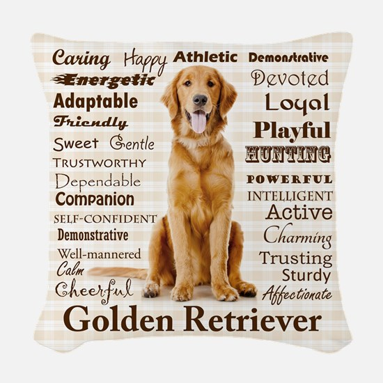Golden Traits Woven Throw Pillow