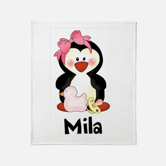 Mila's Penguin Throw Blanket