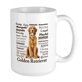 Golden retriever Large Mugs (15 oz)
