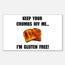 Crumbs Off Me Gluten Free Decal