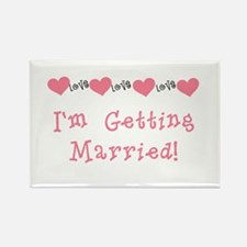 I'm Getting Married (coral) Magnets