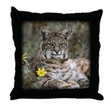 Bob Cat Throw Pillow