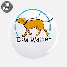 """dog walker 3.5"""" Button (10 pack)"""
