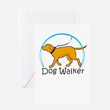 dog walker Greeting Cards