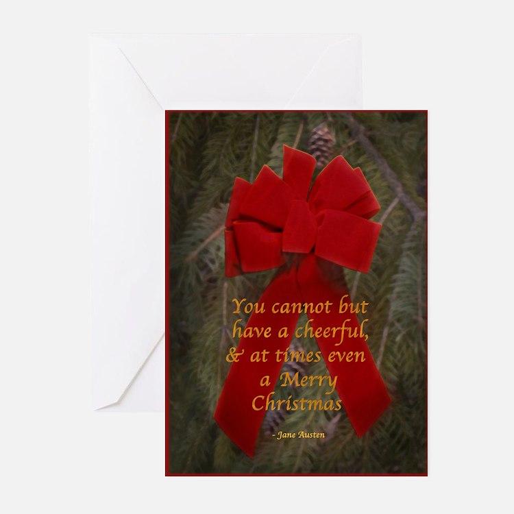 Jane Austen Christmas Cards (Pk of 10) Greeting Ca