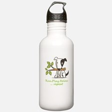 Run,play,relax,..repea Water Bottle